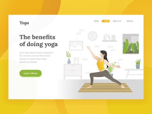 Home yoga-landing-page-vorlage Premium Vektoren