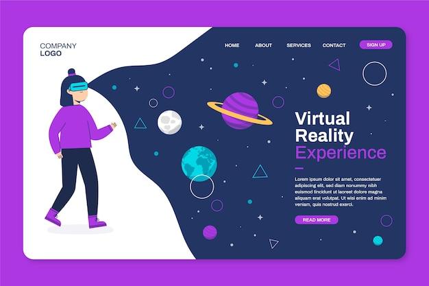 Homepage der virtuellen realität Premium Vektoren