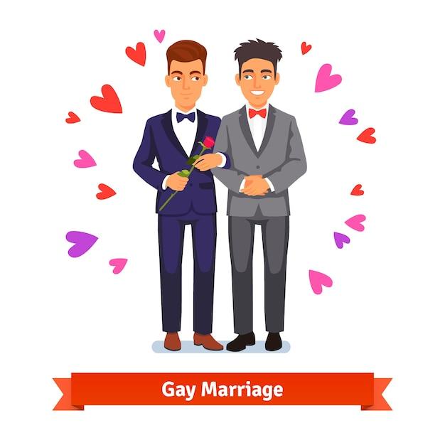 Homosexuell ehe ehe und liebe Kostenlosen Vektoren