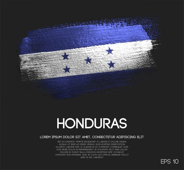 Honduras flagge aus glitter sparkle pinsel farbe Premium Vektoren