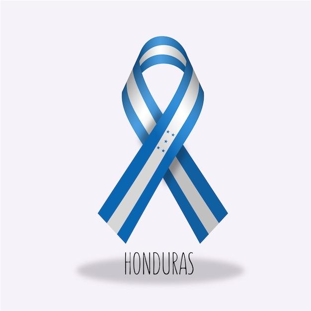 Honduras-flaggenbandentwurf Kostenlosen Vektoren