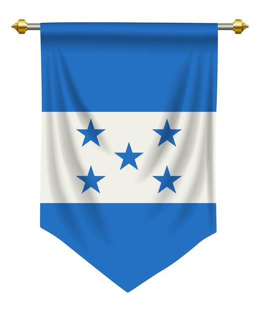 Honduras-wimpel Premium Vektoren