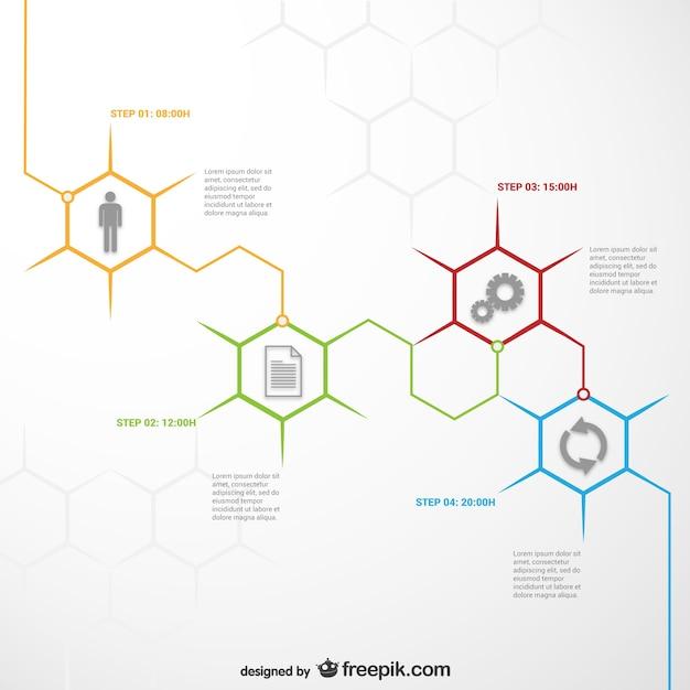 Honeycomb infografik vorlage Kostenlosen Vektoren