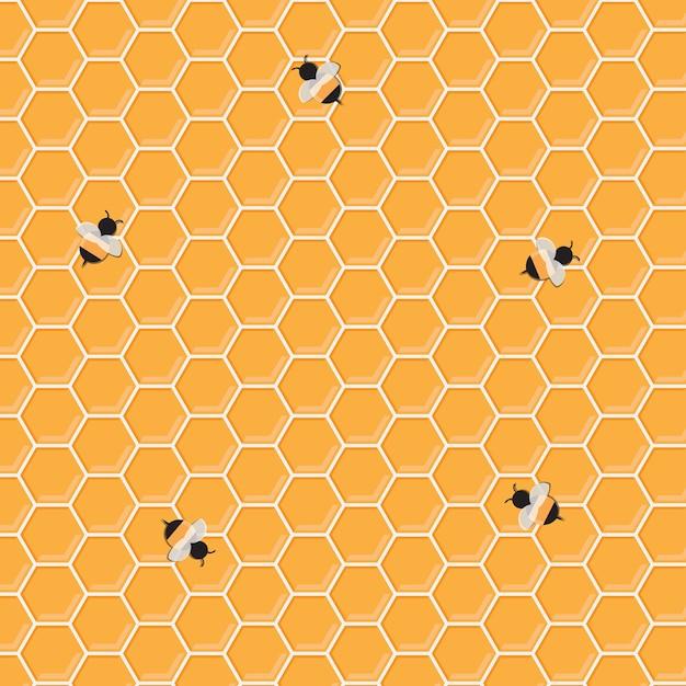 Honig-biene-hintergrund Premium Vektoren