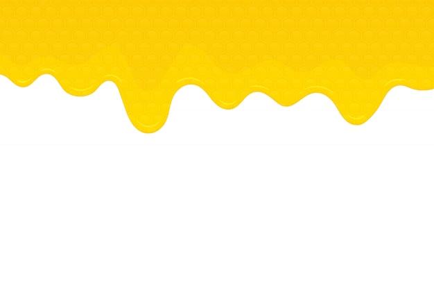 Honig hintergrundillustration Premium Vektoren