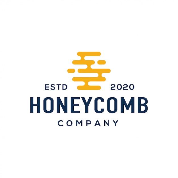 Honig-logo-design-vektor. Premium Vektoren