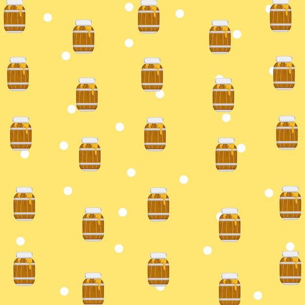 Honig muster hintergrund Premium Vektoren