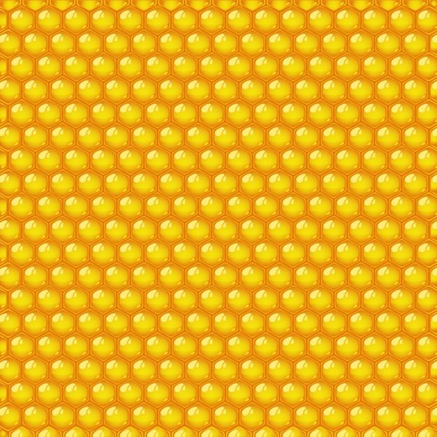 Honig nahtlose muster Premium Vektoren