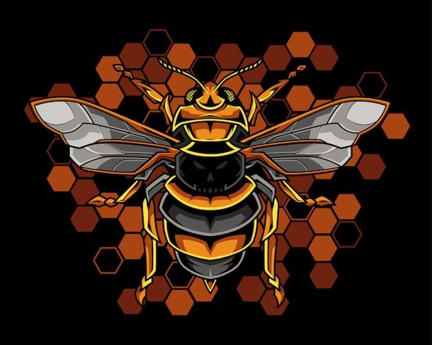 Honigbiene illustration Premium Vektoren
