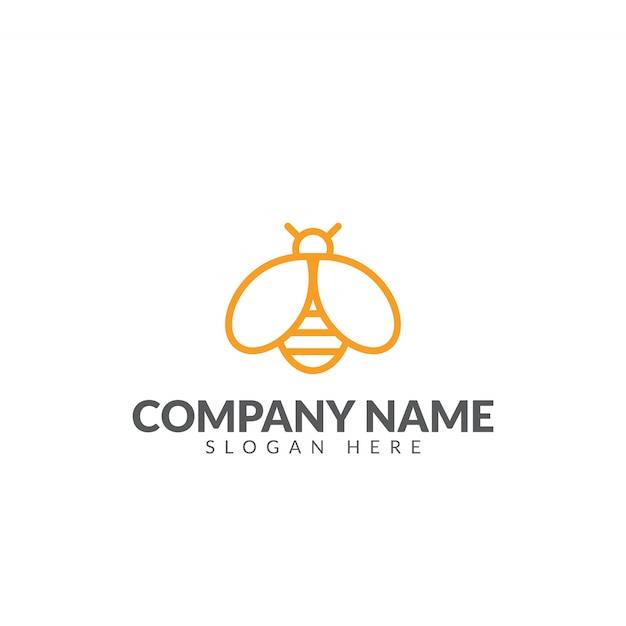 Honigbiene logo design vektor vorlage Premium Vektoren