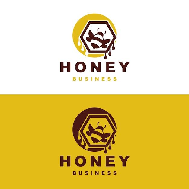 Honigbienen-logo-design Premium Vektoren