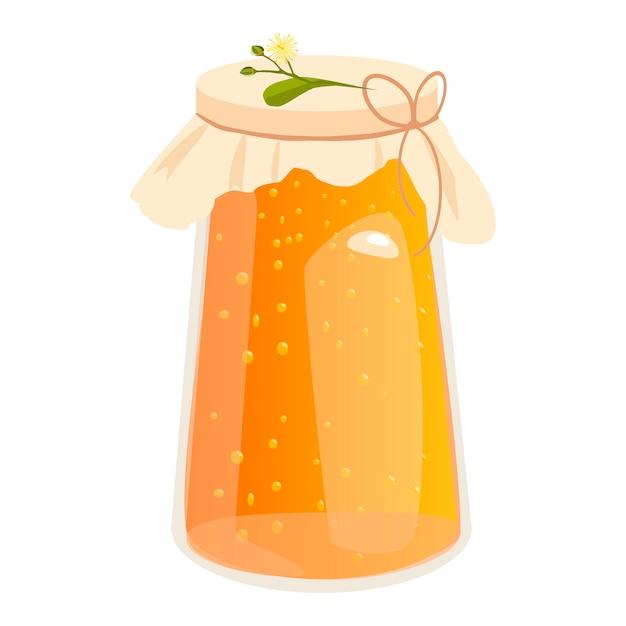 Honigglas-vektorillustrationen. Premium Vektoren