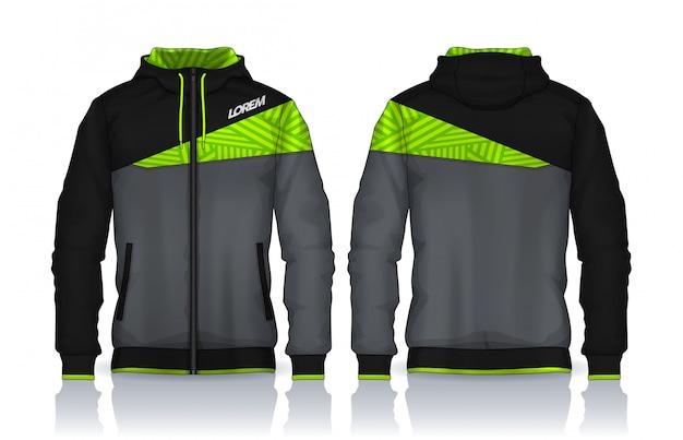 Hoodie-shirtschablone Premium Vektoren