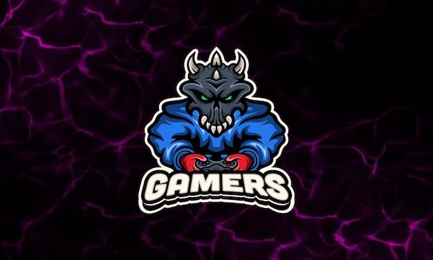 Hoodie skull gaming maskottchen esport logo vorlage Premium Vektoren
