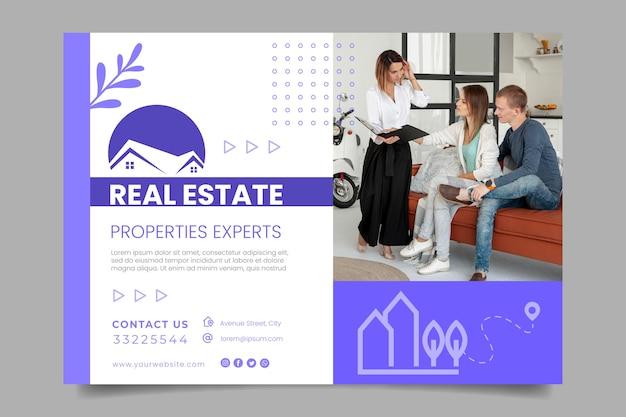 Horizontale banner-vorlage für immobilien Kostenlosen Vektoren