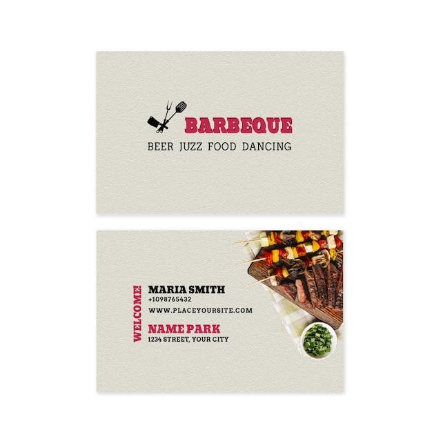 Horizontale doppelseitige visitenkarte Premium Vektoren