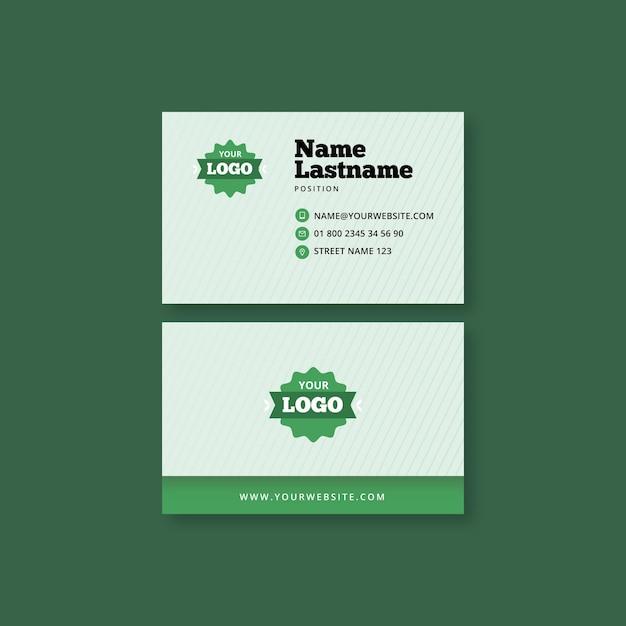 Horizontale visitenkarte für bio und gesunde lebensmittel Premium Vektoren