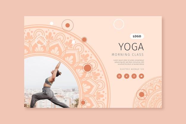 Horizontales banner der yoga-morgenklasse Kostenlosen Vektoren
