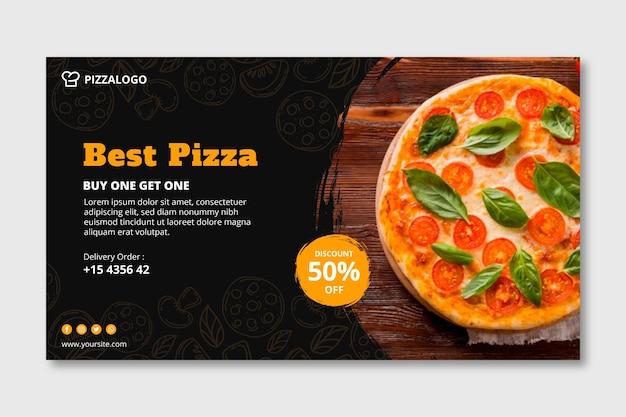 Horizontales banner für italienisches restaurant Premium Vektoren