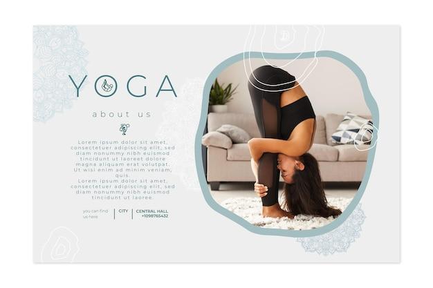 Horizontales banner zum üben von yoga Kostenlosen Vektoren