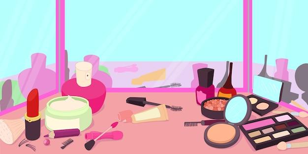 Horizontales fahnenkonzept der kosmetik Premium Vektoren