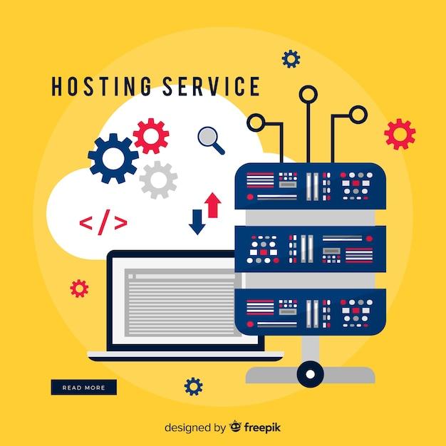 Hosting-service-hintergrundgetriebe Kostenlosen Vektoren