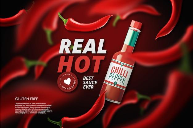Hot chili pfeffer anzeige Kostenlosen Vektoren