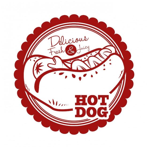 Hot dog design Premium Vektoren