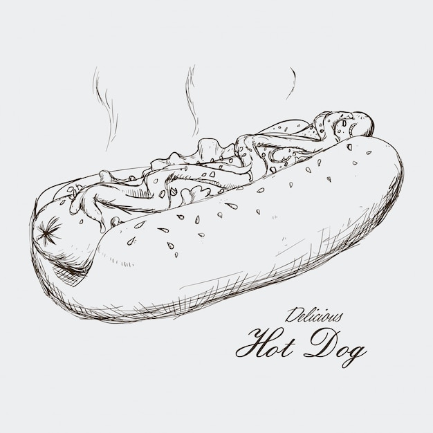 Hot dog design Premium Vektoren
