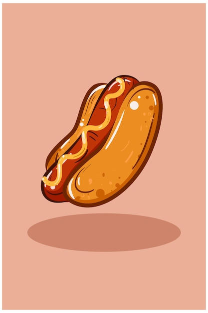 Hotdog-illustration Premium Vektoren