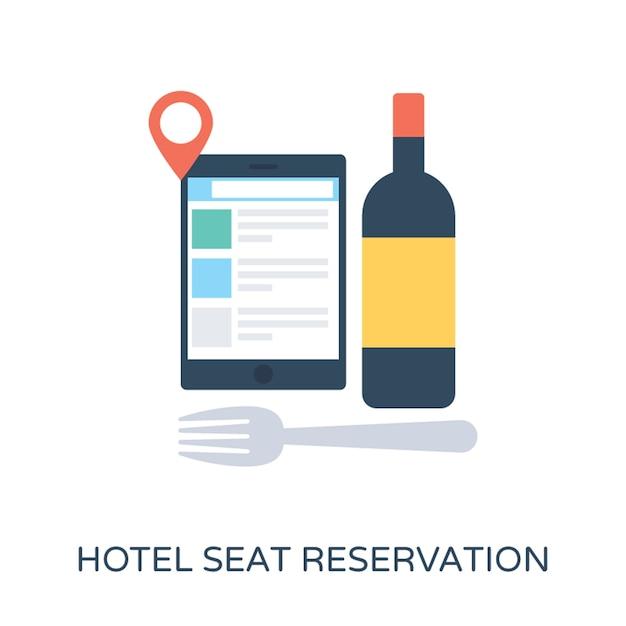 Hotel Seat Reservierung flache Vektor Icon   Download der Premium Vektor