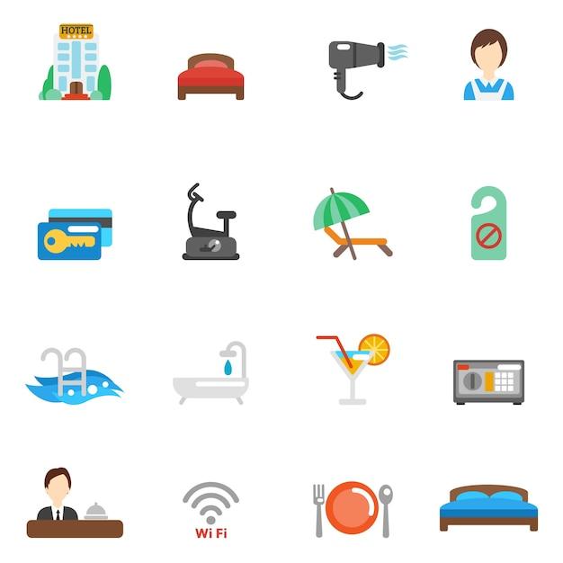 Hotel wohnung icon set download der kostenlosen vektor for Meine wohnung click design free
