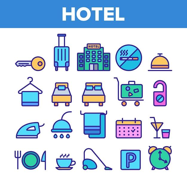 Hotelunterkunft Premium Vektoren