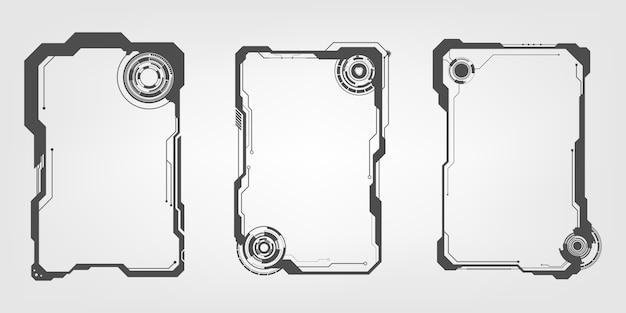Hud futuristic user screen control-schnittstellen-set Premium Vektoren