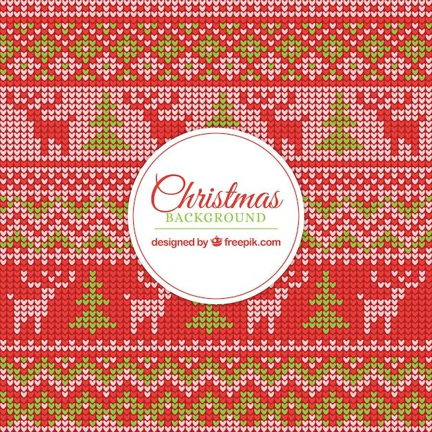 Hübsche kreuzstich weihnachten hintergrund Kostenlosen Vektoren
