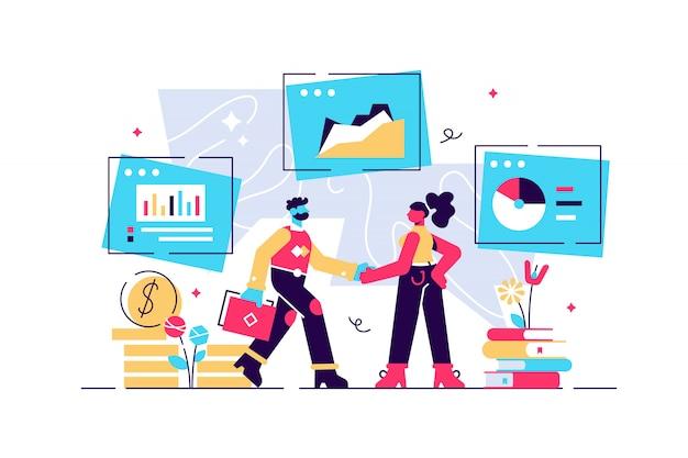 Human resources, recruitment concept illustration, interview, bewertung, personalagentur. mitarbeiter einstellen. \ n Premium Vektoren