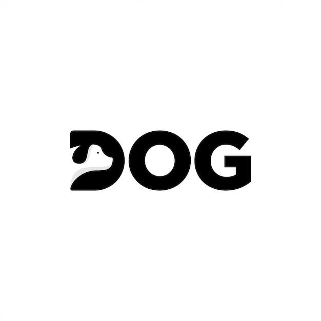 Hund logo design Premium Vektoren