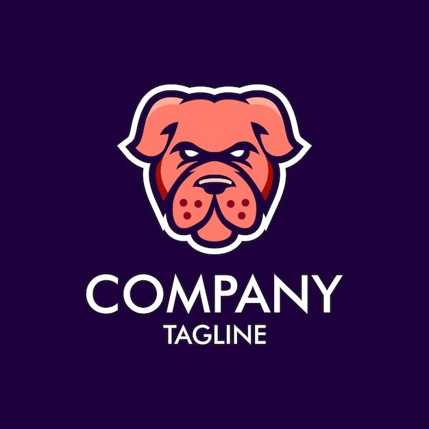 Hund maskottchen logo Premium Vektoren