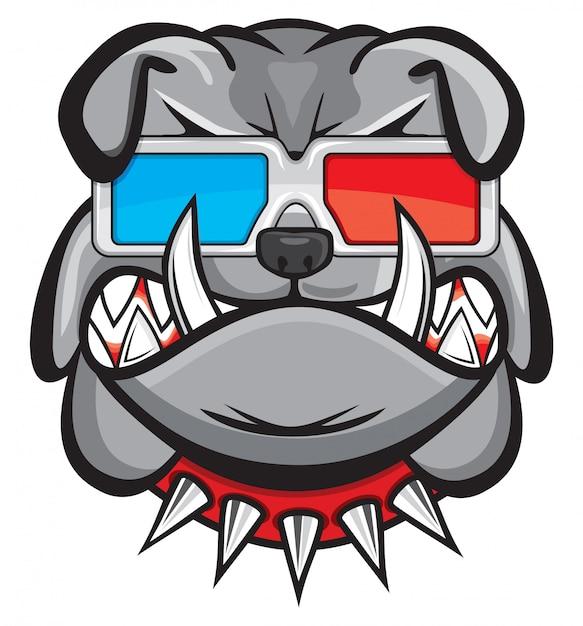 Hund mit brille 3d Premium Vektoren