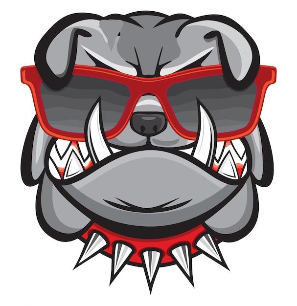 Hund mit retro-brille Premium Vektoren
