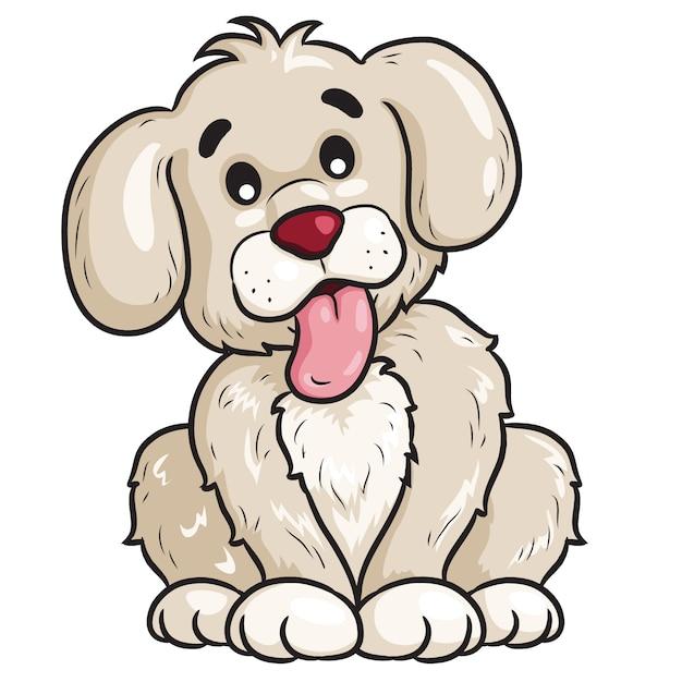 Hund niedlichen cartoon Premium Vektoren