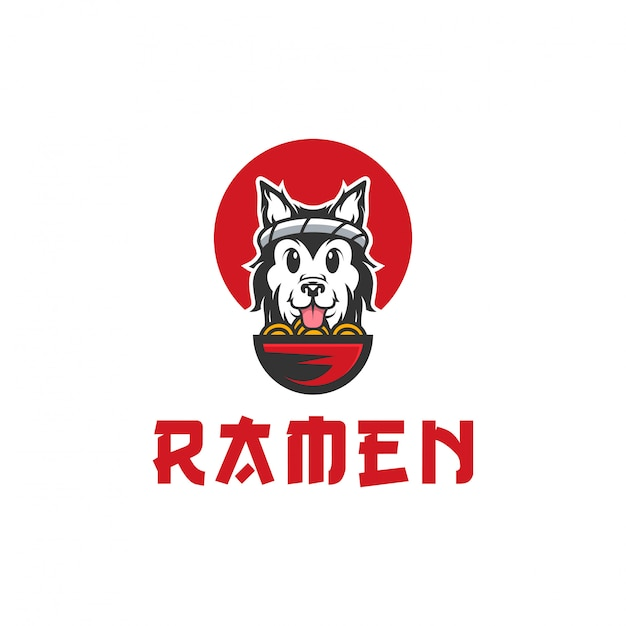 Hund ramen vektor-logo-illustration Premium Vektoren
