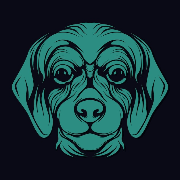 Hundegesicht Premium Vektoren