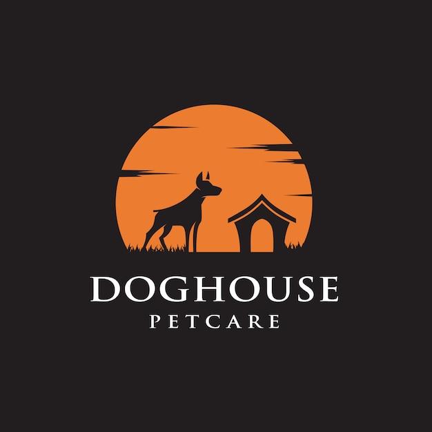 Hundehütte-logo Premium Vektoren