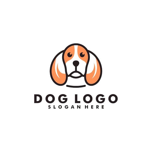 Hundelogo-design, tierkopf-logo Premium Vektoren