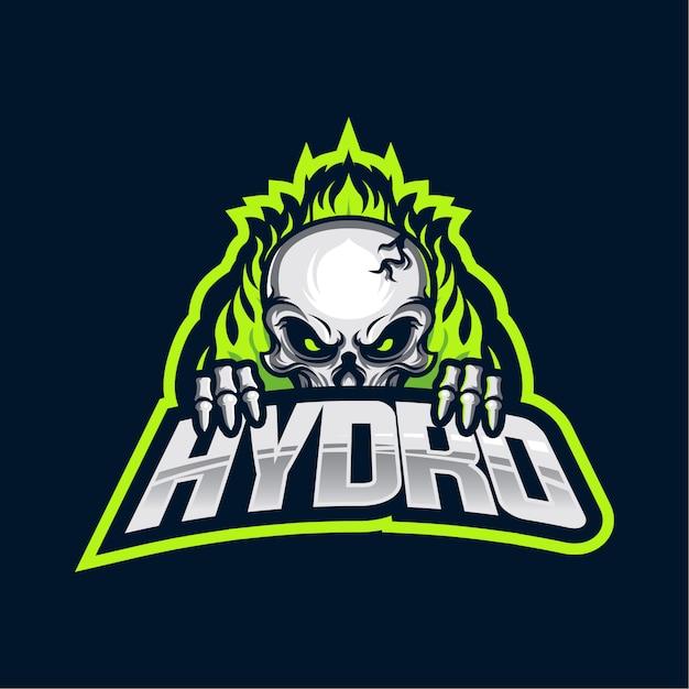 Hydro esports-logo Premium Vektoren