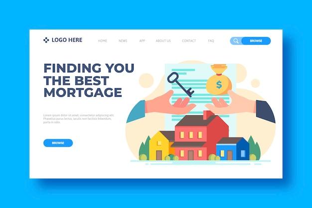 Hypotheken-landingpage-vorlage Kostenlosen Vektoren