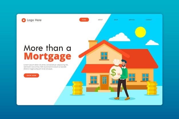 Hypotheken-landingpage Kostenlosen Vektoren