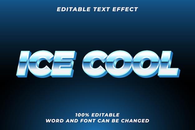 Ice cool textstileffekt premium Premium Vektoren