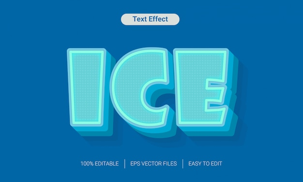 Ice freeze-texteffekt Premium Vektoren